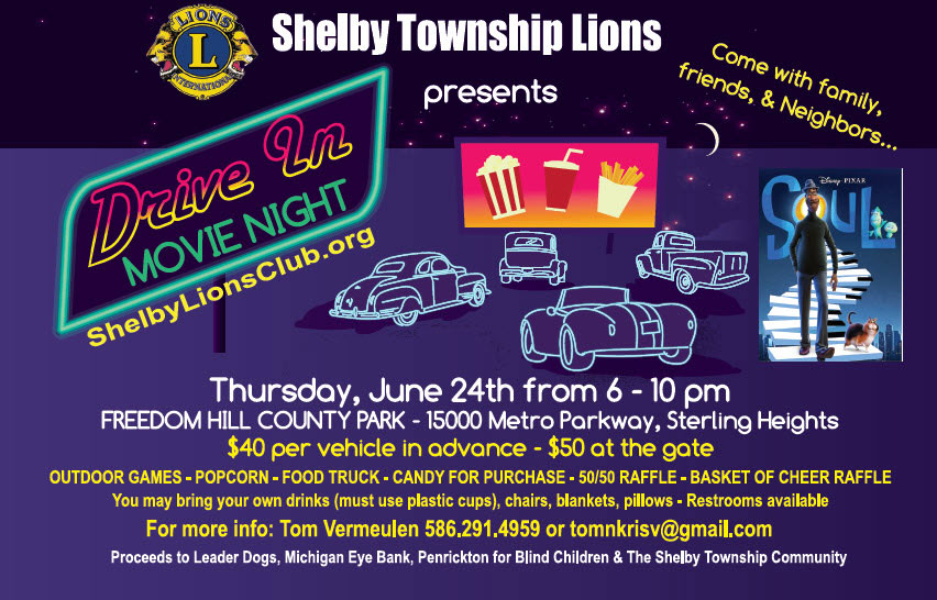 Drive In Movie Night –  June 24th, 2021 from 6 -10 pm